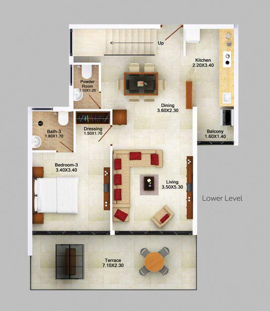 3bhk-duplex-garden-view-floor-plan-2d-lower-level