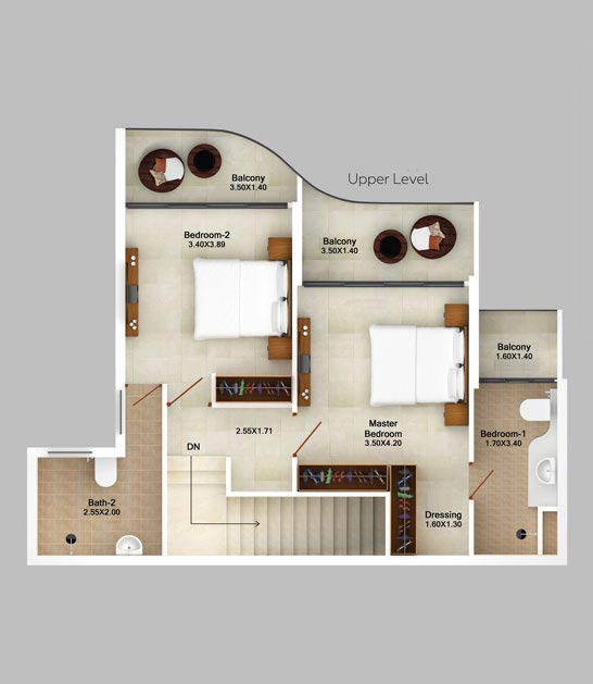 3bhk-duplex-mountain-view-floor-plan-2d-upper-level